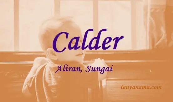 arti nama Calder