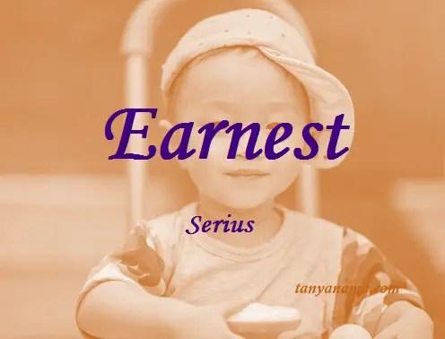 arti nama Earnest