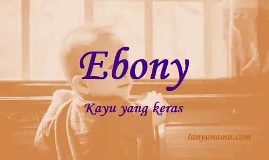 arti nama Ebony
