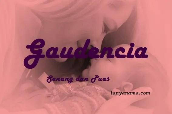 arti nama Gaudencia