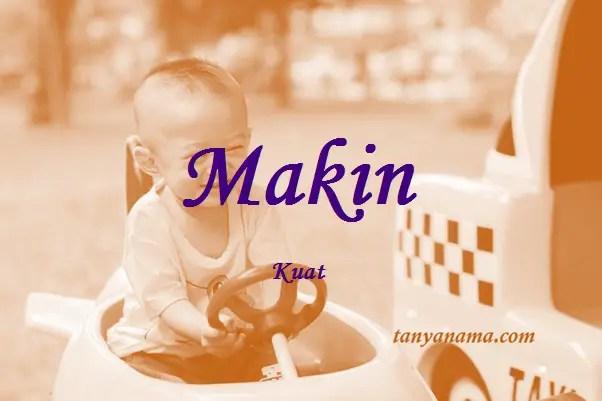 arti nama Makin