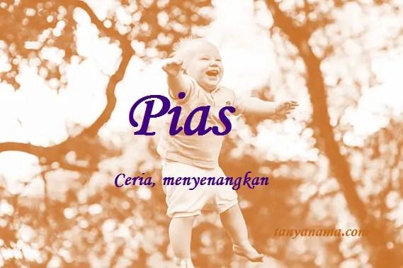arti nama Pias