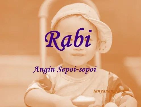 arti nama Rabi