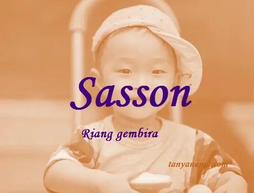 arti nama Sasson