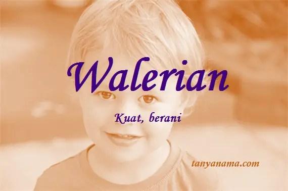 arti nama Walerian