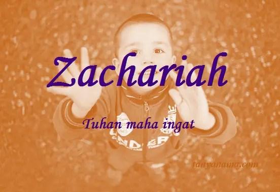 arti nama Zachariah