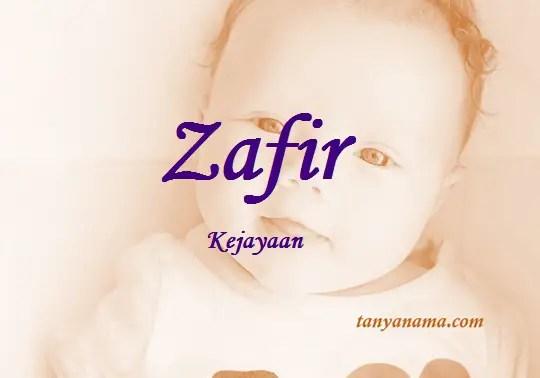arti nama Zafir