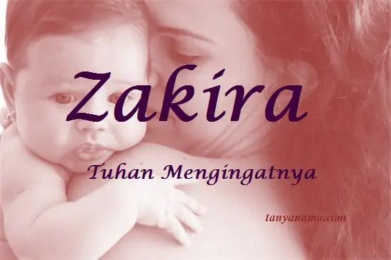 arti nama Zakira