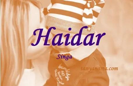 arti nama Haidar