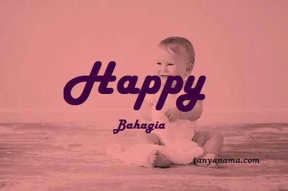 arti nama Happy