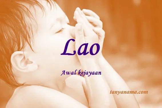 arti nama Lao