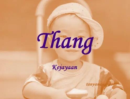 arti nama Thang