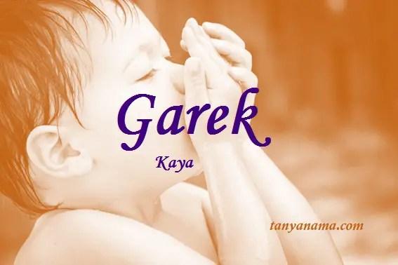 arti nama Garek