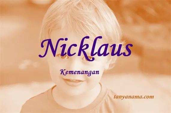 arti nama Nicklaus