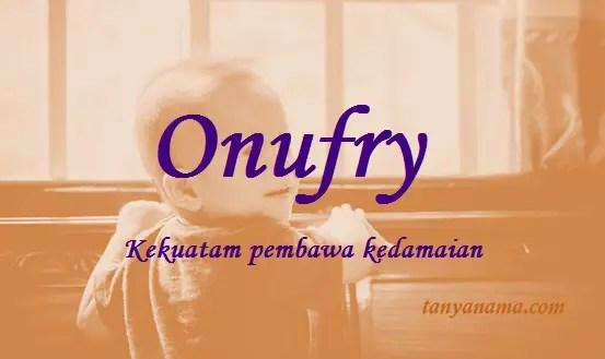 arti nama Onufry