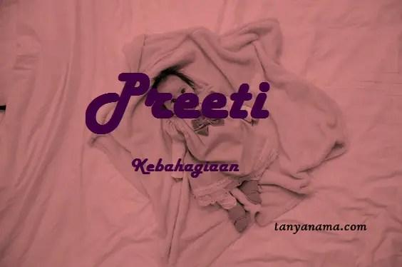 arti nama Preeti