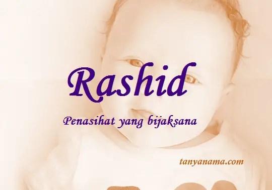 arti nama Rashid