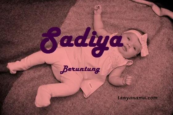 arti nama Sadiya