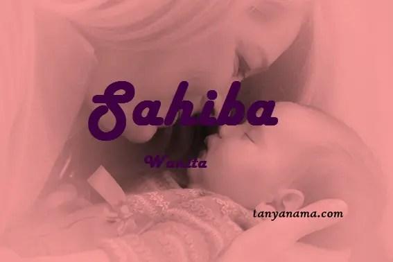 arti nama Sahiba
