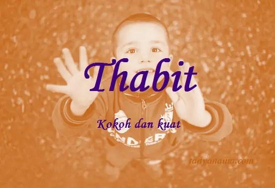 arti nama Thabit