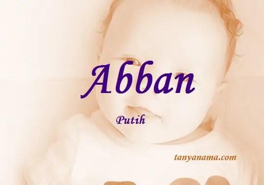 arti nama Abban