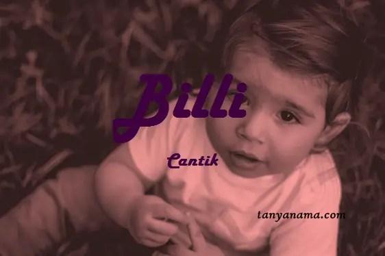 arti nama Billi