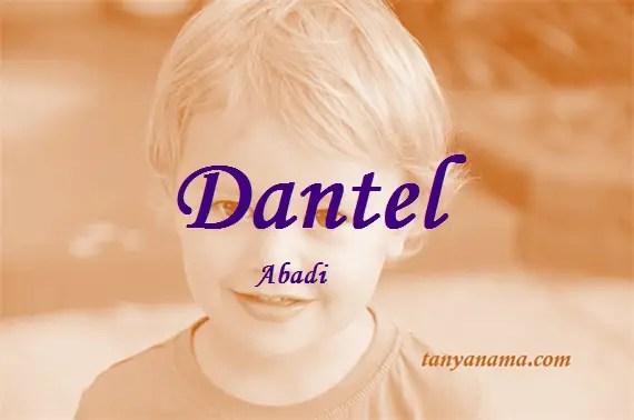 arti nama Dantel