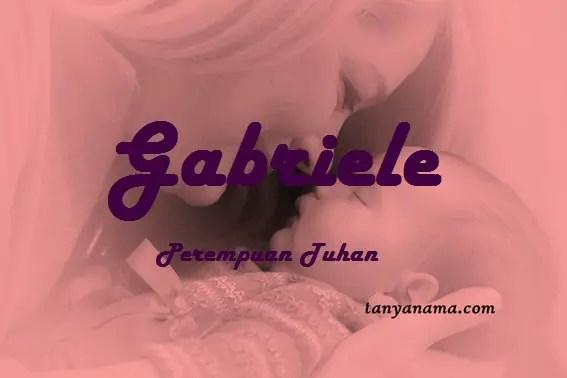 arti nama Gabriele