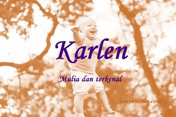 arti nama Karlen