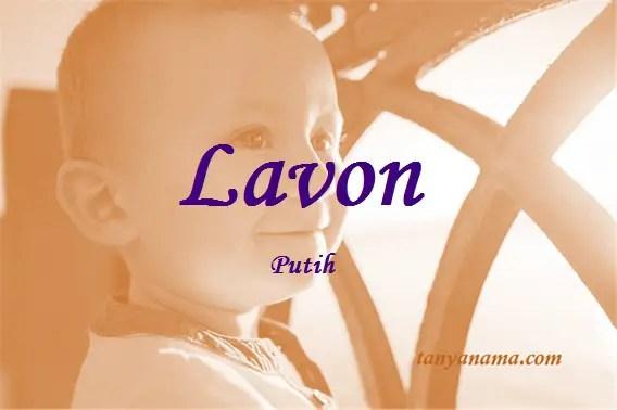 arti nama Lavon