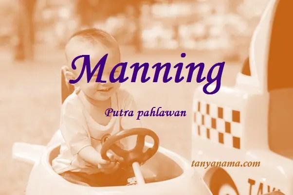 arti nama Manning