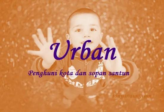 arti nama Urban