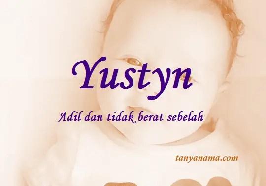 arti nama Yustyn