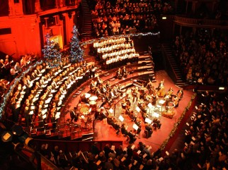 Christmas music concert inside the Albert Hall, Kensington