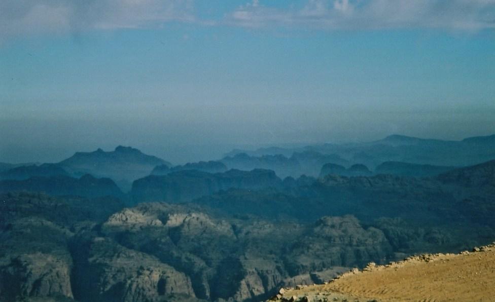 Shara Mountains, Jordan where city of Petra is hidden