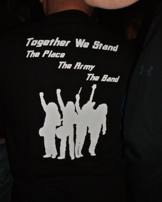 a group of fans had their own special t-shirts printed for the tour.