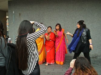 the aunties in the film. I'm guessing they play villains