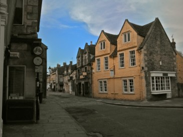 Looking back along Corsham High Street from the other end.