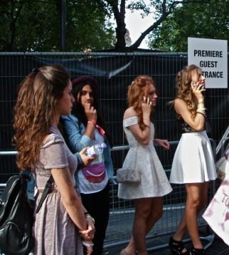 Fans attending One Direction Film Premiere