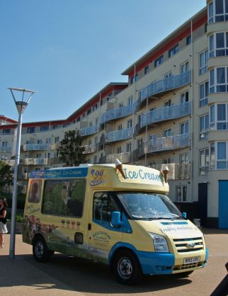 Bristol (2012). Posh ices and not a Mr Whippy van.