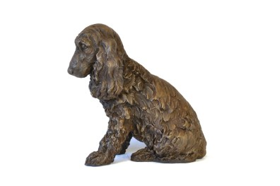 Right view of Cocker Spaniel sculpture by Tanya Russell