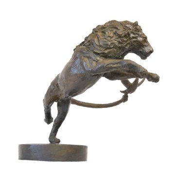 Lion and Dove 5 - Tanya Russell Animal Sculpture