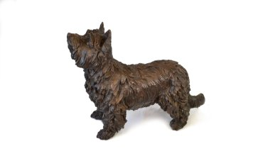 Yorkshire Terrier Standing Sculpture 2 - Tanya Russell Dog Sculpture