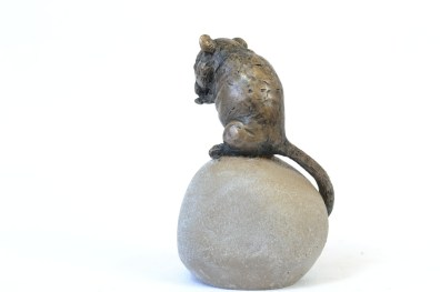 Dormouse sculpture - rear quarter right view
