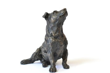 Jack Russell Terrier sculpture - front view