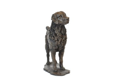 Standing Retriever sculpture front view