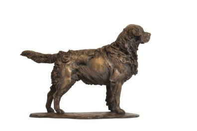 Standing Retriever sculpture left side view