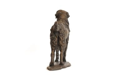 Standing Retriever sculpture rear view