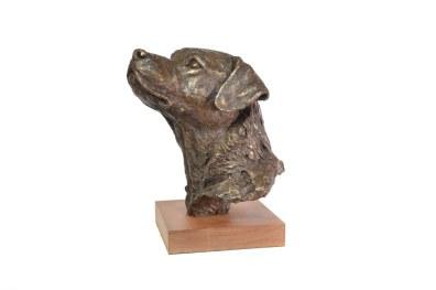 Prince, Labrador Portrait Sculpture - left view