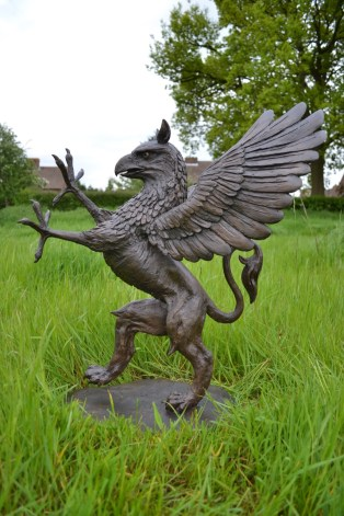 Griffin sculpture by Tanya Russell right side view